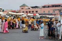 Jemaa el-Fnaa Medina of Marrakesh, Morocco Stock Image