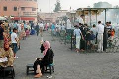Jemaa el-Fnaa Medina of Marrakesh, Morocco Stock Images