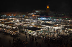 Jemaa el-Fnaa square at night, Marrakesh Royalty Free Stock Photos