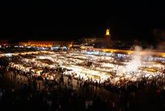 Jemaa el rynek w Marrakesh, Maroko Obraz Royalty Free