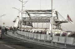 Jembatan city of heroes & x28;surabaya indonesia& x29; stock photography