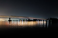 Jembatan tol sungai kapuas. Kapuas river at the night Stock Photography