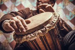 Jembe del instrumento musical imagen de archivo