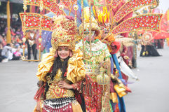 Jember Fashion Carnival. Is held annually in Jember, East Java, Indonesia. The event is getting bigger now and Jember became the Carnival City in Indonesia Royalty Free Stock Images