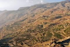 Jemeński wiejski krajobraz Jemen Zdjęcie Stock