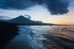 Jemeluk海滩, Amed,巴厘岛 免版税库存图片