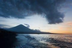 Jemeluk plaża, Amed, Bali Zdjęcie Stock