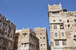 Jemen, dziejowy centrum Sana'a Obraz Royalty Free