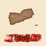 Jemen martwił mapę Obraz Royalty Free