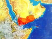 Jemen na ziemi od przestrzeni ilustracji