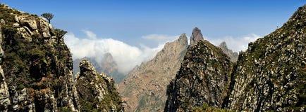 Jemen. Socotra wyspa. Higghe góry Fotografia Royalty Free
