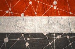 Jemenflaggenkonzept Lizenzfreies Stockfoto