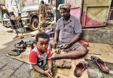 Jemenit auf Aden Street Lizenzfreies Stockfoto