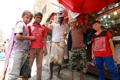 Jemenit auf Aden Street Stockfotografie