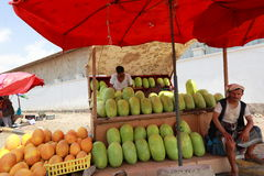 Jemenit auf Aden Street Lizenzfreie Stockbilder