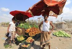 Jemenit auf Aden Street Stockfoto