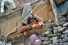 Jemenitisk liten flicka Royaltyfri Fotografi
