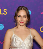 Jemima Kirke. British-born and New York-raised actress Jemima Kirke, arrives on the red carpet for the New York premiere of the third season of the hit HBO cable Royalty Free Stock Image