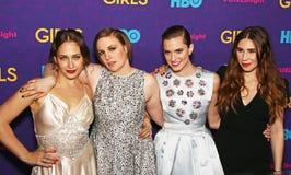 Jemima Kirke, Lena Dunham, Allison Williams, e Zosia Mamet Fotografia de Stock