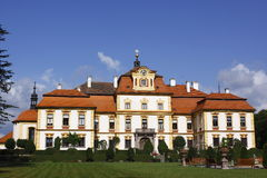 Jemniste. Chateau jemniste, the landmark in Czech republic, is a typical aristocratic seat at the peak of the Baroque period Royalty Free Stock Photography