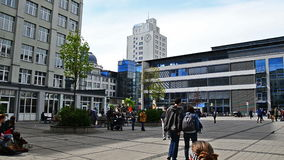 Jena Germany student university campus stock footage