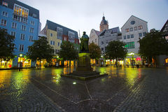 Jena Square. The main market square in Jena, Germany Stock Images