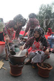 Jenang Festival Solo. Residents participating festival with porridge in Solo, Central Java, Indonesia. The festival presents a wide range of grain porridge to be Royalty Free Stock Photography