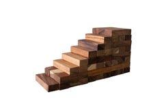 Jenga. Blocks wood game (jenga) on white background Stock Image