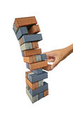 Jenga container Stock Photo
