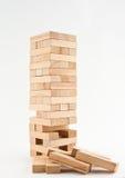 Jenga de madeira Foto de Stock