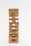 Jenga de madeira Fotos de Stock
