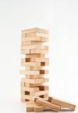 Jenga de madeira Imagens de Stock Royalty Free