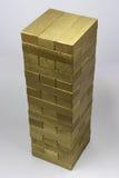 Jenga dorato Fotografia Stock Libera da Diritti