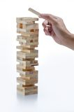 Jenga game Stock Photos