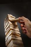 Jenga-Geschäftsstrategie Lizenzfreie Stockfotos