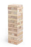 Jenga tower. Built tower Jenga Stock Images