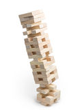 Jenga tower crash Stock Image