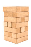 Jenga traditional tower on a white background Stock Photo