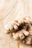 Jengibre orgánico fresco Fotos de archivo libres de regalías