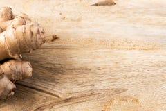 Jengibre orgánico fresco Imagen de archivo libre de regalías