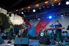 Jenia Lubich performs at Usadba Jazz Festival Stock Photos