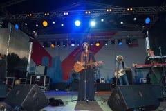 Jenia Lubich performs at Usadba Jazz Festival Stock Photography