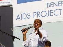 Jenifer Lewis unterhält die Masse AM AIDS-WEG-LA lizenzfreies stockbild
