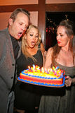 Jenise Blanc,Jennifer Blanc,Michael Biehn. Michael Biehn with Jennifer Blanc and Jenise Blanc  at the Birthday Party for Jennifer Blanc. Amagis, Hollywood, CA Royalty Free Stock Images
