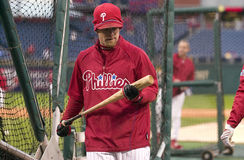 Jenkins. Geoff Jenkins during batting practice before the conclusion of World Series game 5 Stock Photos