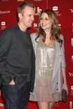 Jenna Fisher. & Fiance arriving at the 2009 US Weekly Hot Hollywood Party Voyeur West Hiollywood,  CA November 18, 2009 Royalty Free Stock Photos