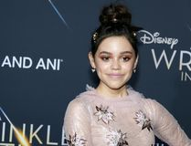 Jenna Ortega. At the Los Angeles premiere of `A Wrinkle In Time` held at the El Capitan Theater in Hollywood, USA on February 26, 2018 Royalty Free Stock Photography