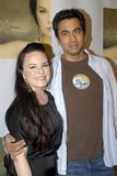 Jenna Von Oy and Kal Penn. Appearing live on the red carpet stock images