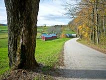Jenne Bauernhof, Vermont Stockbild