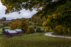Jenne Farm in Vermont. A wayside view of the historic Jenne Farm near Woodstock, Vermont Royalty Free Stock Photos